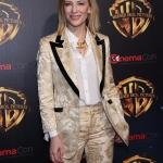 Пресс-волл кинофорум CinemaCon презентация проектов Warner Bros Кейт Бланшетт Лас-Вегас США 2018