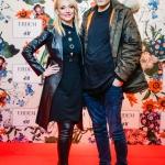 Пресс-волл с красной дорожкой капсульная коллекция Erdem x H&M Кристина Орбакайте с мужем Москва 2017