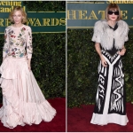 Пресс-волл с живыми цветами премия  London Evening Standard Theater Awards Кейт Бланшетт Анна Винтур Лондон 2017
