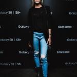 Пресс-волл презентация Samsung Galaxy S8 Алена Шишкова 2017
