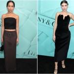 Пресс-волл фото зона презентация новой коллекции Tiffany&Co Зои Кравиц Елена Темникова Нью-Йорк США 2018