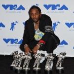 Пресс-волл премия VMA2017 Кендрик Ламар Лос-Анджелес 2017