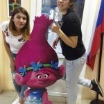 Изготовление ростовой фигуры Розочка на заказ из пластика интерьерная печать ламинирование накатка РостАрт 2017 123