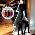 Новогоднее оформление магазина лазерная резка акрила накатка пленки светодиодная подсветка Calzedonia Москва 2017