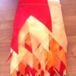 Изготовление гирлянд из флажков на заказ хвостик трехцветная флажная лента на заказ РостАрт Москва 2018 16825