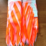 Гирлянды из флажков из ткани на заказ белая оранжевая флажная лента из ткани на веревке РостАрт Москва 2018 18208