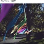 Гирлянды из флажков из ткани флажная лента РостАрт Москва 2018 18890