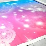 Широкоформатная печать на баннере задник для сцены дизайнерские работы РостАрт Москва 2017 7028