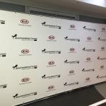 Изготовление пресс-волла на заказ интерьерная широкоформатная печать на баннере Москва 2018