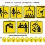 Тактильные таблички со шрифтом Брайль тактильные гардеробные номерки РостАрт Москва 2018
