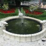 Благоустройство территории малые архитектурные формы вазоны озеленение фонтан пример РостАрт 0006