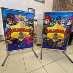 Изготовление пресс-волла на заказ маленькие печать интерьерна на баннере РостАрт Москва 2020