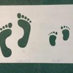 Изготовление трафарета на заказ следы ног РостАрт 0555