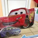 Изготовление ростовой фигуры Тачки для детского праздникана заказ пластик со стойкой Тачки РостАрт Москва 2017