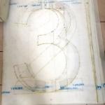 Изготовление трафаретов резка трафаретов цифр букв больших размеров резка пластика ПЭТ РостАрт Москва 2018 9108