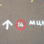 Трафарет из пластика направление движения двух-цветный к Метро для МЦК РЖД пример Ростарт 2202