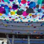 Лазерная резка цветного акрила (пластика) для внутреннего оформления торгового центра Ривьера пример 225 2016год