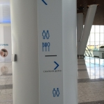Лазерная резка акрила и пластика для внутренней навигации торгового центра Ривьера пример 229 2016год