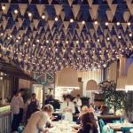Гирлянда из флажков флажная лента из ткани для оформления ресторана РостАрт Москва 2019 26103