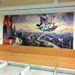 Печать постеров плакатов интерьерная печать плакатов фотообои для детского центра РостАрт Москва 2017 3091