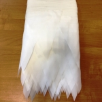 Изготовление флажной ленты на заказ из ткани одноцветная белого цвета флажная лента из ткани РостАрт Москва 2018 16824