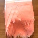 Изготовление флажной ленты на заказ из ткани одноцветная пастельные цвета флажная лента из ткани РостАрт Москва 2018 16877