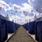 Изготовление гирлянд из ткани триколор флаг России флажная лента РостАрт Москва 2018 17017