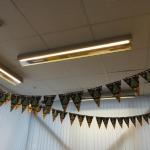 Флажная лента из бумаги с ламинацией брендирование к Новому Году на веревке пример 209 РостАрт