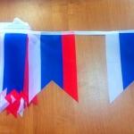 Изготовление флажной ленты на заказ печать флажков для оформления мероприятия РостАрт 3324