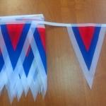 Изготовление флажной ленты на заказ печать флажков для оформления мероприятия РостАрт 3328