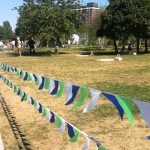флажная лента стандартная для парка из ткани РостАрт