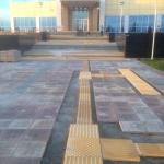 Монтажные работы бетонная плитка по программе Доступная Среда РостАрт Россия 2016 2