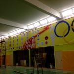Широкоформатная печать баннеров дизайнерские работы монтажные работы спорткомплекс РостАрт Москва 2017