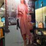 Печать на тканях интерьерная печать на ткани рекламный постер с карманами с утяжелителями пример Москва 2018