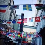 Изготовление гирлянд из флажков стран мира FIFA 2018 на заказ печать флагов печать на ткани РостАрт Москва 2018