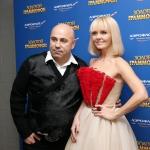 Пресс-волл премия Золотой Граммафон Валерия и Иосиф Пригожин пример 2016
