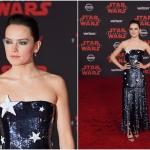 Пресс-волл с красной дорожкой премьера фильма Звездные Войны Последние Джедаи Дэйзи Ридли Лос-Анджелес 2017