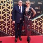 Пресс-волл с инкрустацией церемония вручения Российской Национальной Музыкальной Премии Валерия Иосиф Пригожин Кремль Москва 2017