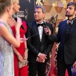 Пресс-волл с инкрустацией церемония вручения Российской Национальной Музыкальной Премии Кремль Москва 2017