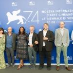 Пресс-волл команда фильма Форма Воды Венецианский кинофестиваль Венеция 2017