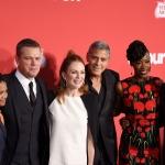 Пресс-волл презентация фильма Субурбиком команда фильма Лос-Анджелис 2017