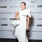 Пресс-волл фотозона  премия Женщина года 2018 по версии журнала Glamour Ксения Собчак Москва 2018