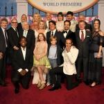 Пресс-волл фотозона премьера фильма Мэри Поппинс возвращается команда фильма Лос-Анджелес 2018