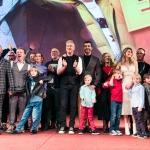 Пресс-волл фотозона премьера фильма ЕЛКИ команда фильма Москва 2018