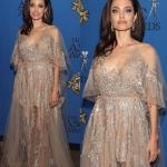 Пресс-волл премия Американского общества кинематографистов Анджелина Джоли Лос-Анжделес США 2018