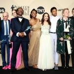 Пресс-волл премия гильдии кино США актерский состав фильма Три Билборда на границе Эббинга Миссури Лос-Анджелес США 2018