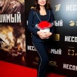Пресс-волл фотозона премьера военной драмы Несокрушимый Ирина Безрукова Москва 2018