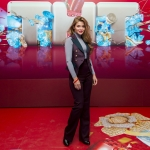Прессволл фотозона презентация нового сезона ТНТ Алина Ланина Москва 2018