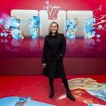 Прессволл фотозона презентация нового сезона ТНТ Яна Троянова Москва 2018