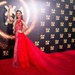 Пресс-волл фотозона с красной дорожкой фестиваль ЖАРА Ольга Бузова Баку 2019